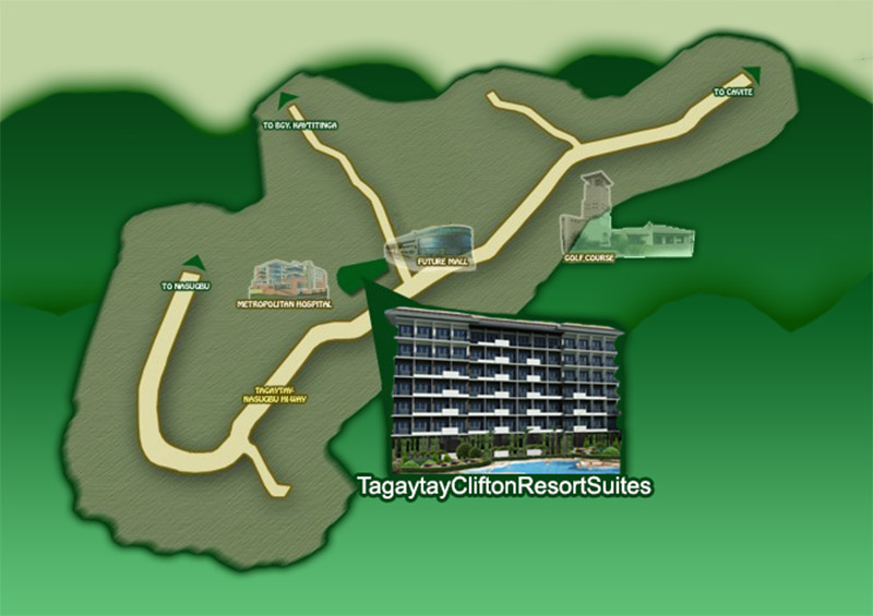 Tagaytay Clifton Resort Suites Vicinity Map